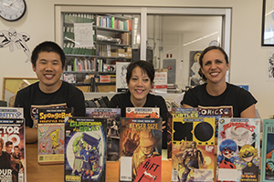 Librarians during Graphic Novel Week 2017