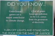 Did you know? Greenhouse gases are a major contributor to climate change.