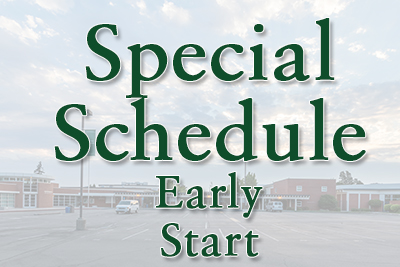 October 25, 2018 - Special Schedule: Early Start